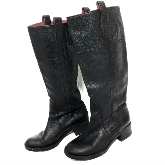 Tall Black Leather Boots Size